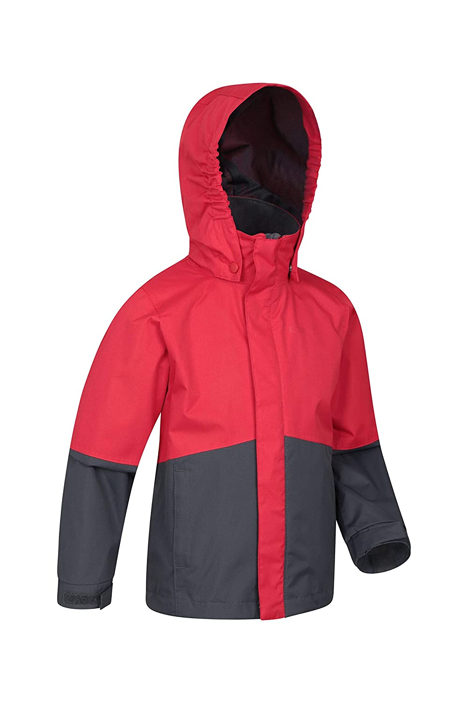 Transpirable Abrigo Peso Ligero Mountain Warehouse Asteroid Chaqueta para ni/ños Viajar antidesgarros para Caminar Costuras Selladas Impermeable para la Lluvia