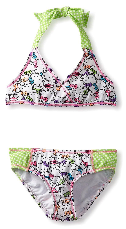 Hello Kitty Triangle Bikini - Little Girl