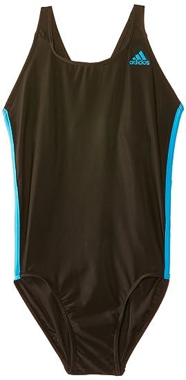 328dbb2408 adidas Women s Infinitex 3-Stripes 1 Piece Swimming Suit - Black Solar Blue