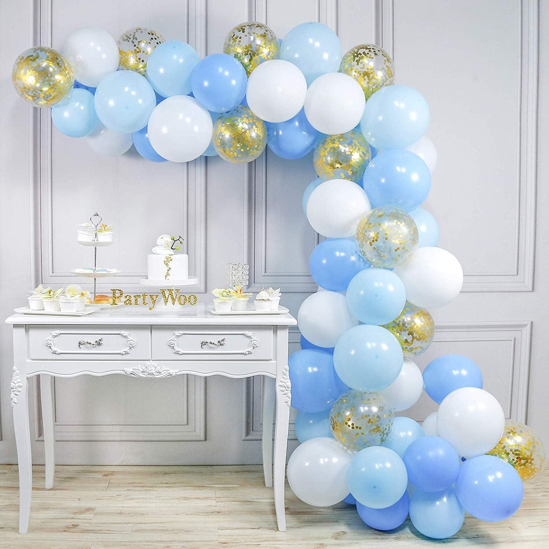 PartyWoo Globos Azules y Blancos 70 pzas 12 Pulgadas Globos Azules ...