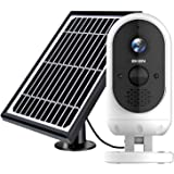 EKEN Outdoor Security Camera Wireless, Solar Powered Security Camera, 1080P Video, Night Vision Motion Detection, 2-Way…