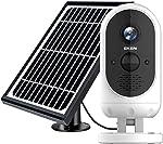 EKEN Outdoor Security Camera Wireless, Solar Powered Security Camera, 1080P Video,