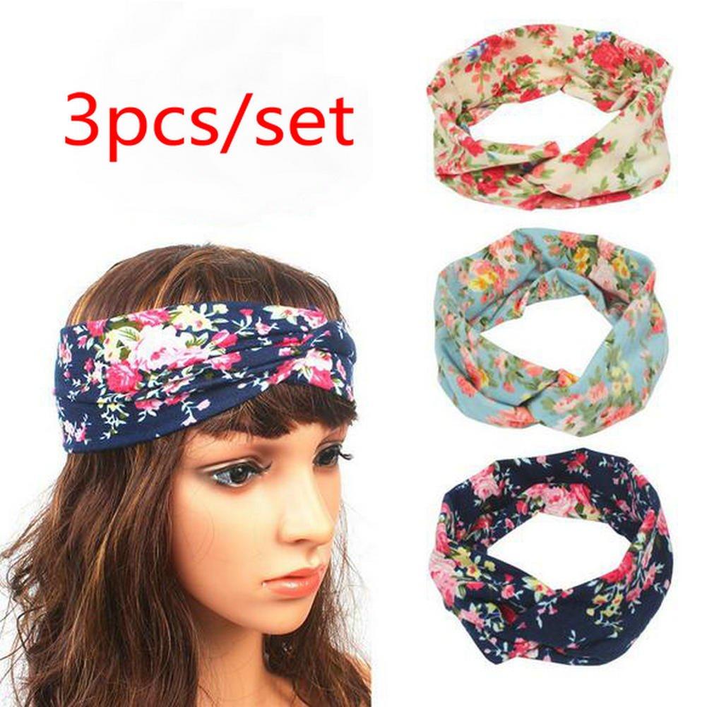 Udolove 3pcs Women s Headbands Elastic Printed Turban Twisted Head Wrap  (3pcs bohemia) at Amazon Women s Clothing store  bc1485ad1a5