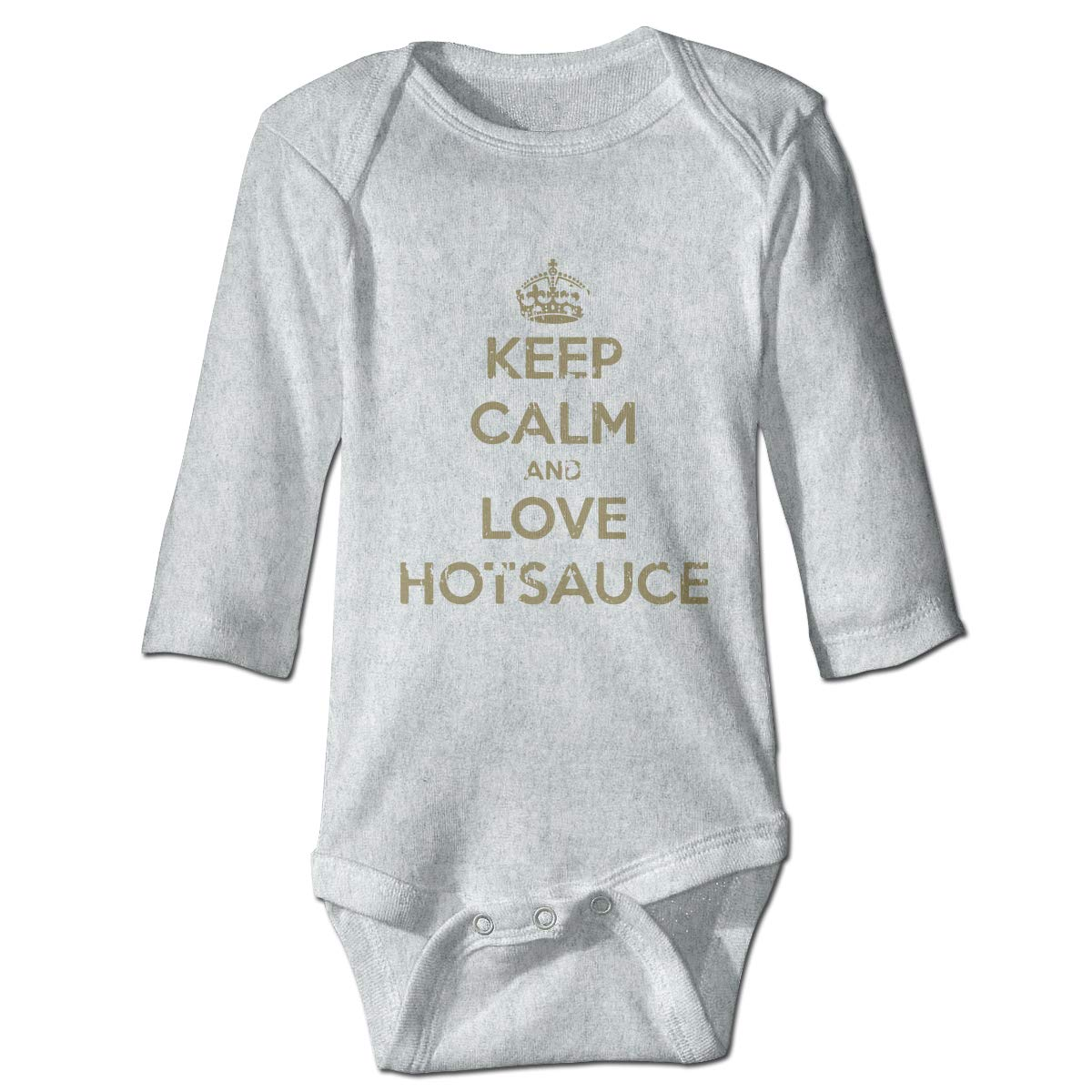 XHX Babys Keep Calm and Love HOT Sauce Long Sleeve Romper Onesie Bodysuit Jumpsuit