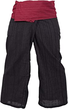 Pantalones De Algodon De Estilo Pescador Tailandes De 2 Colores Aptos Para Cualquier Talla Para Yoga Amazon Es Electronica