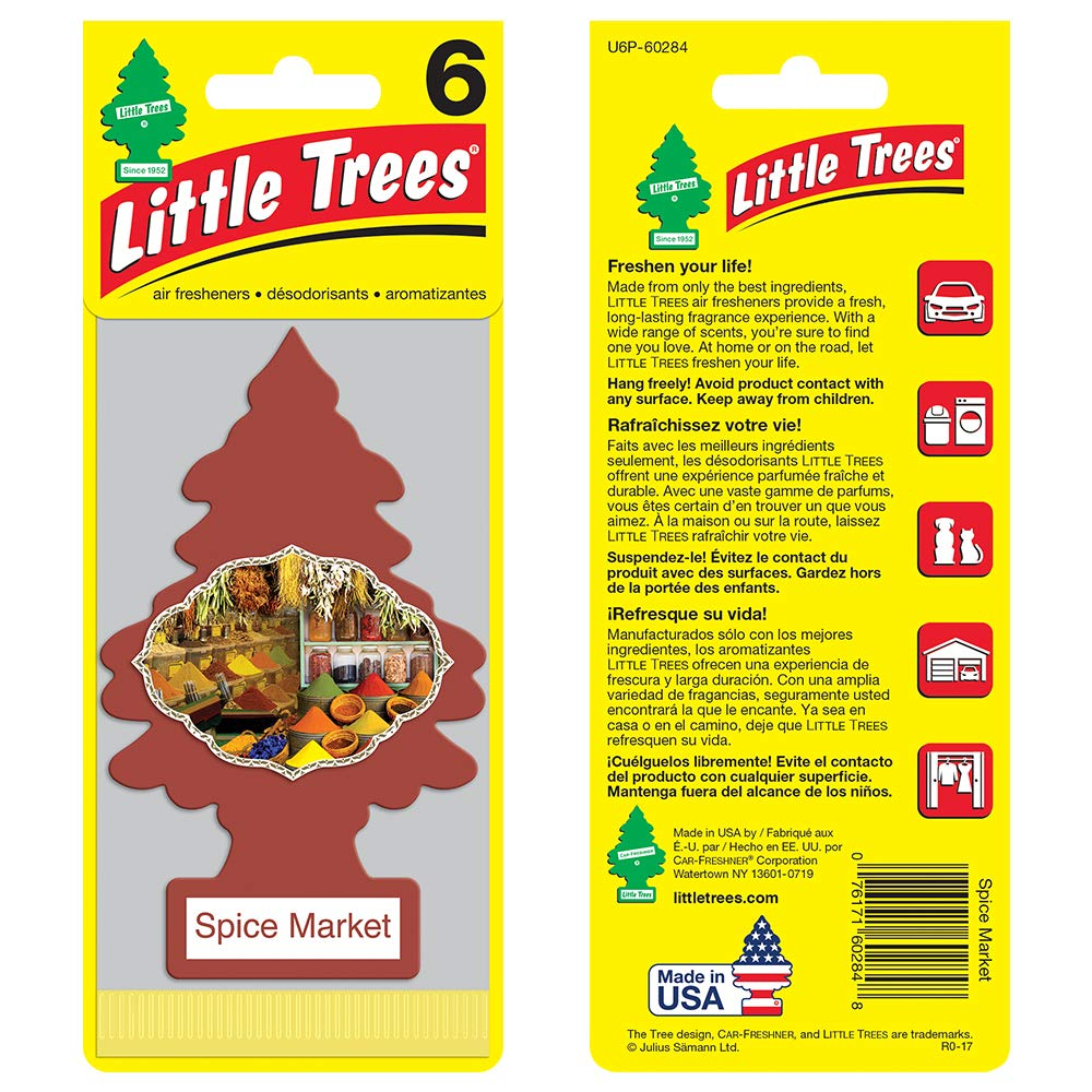 LITTLE TREES auto air freshener, Spice Market, 6-packs (4 count) by Little Trees (Image #2)
