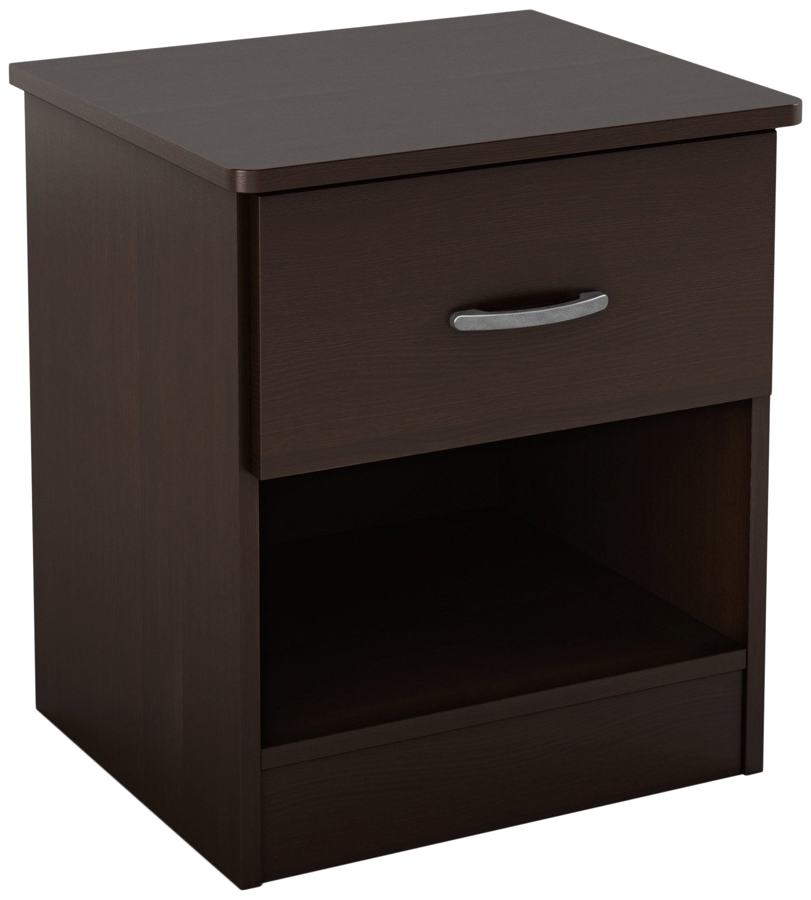 South Shore Libra 1-Drawer Nightstand, Chocolate
