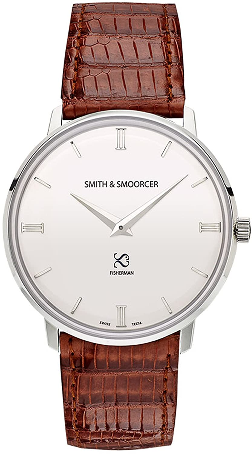 Smith & Smoorcer Fisherman Snowy Elegance Brown Unisex uhren F-1516-ELE-P-B-07