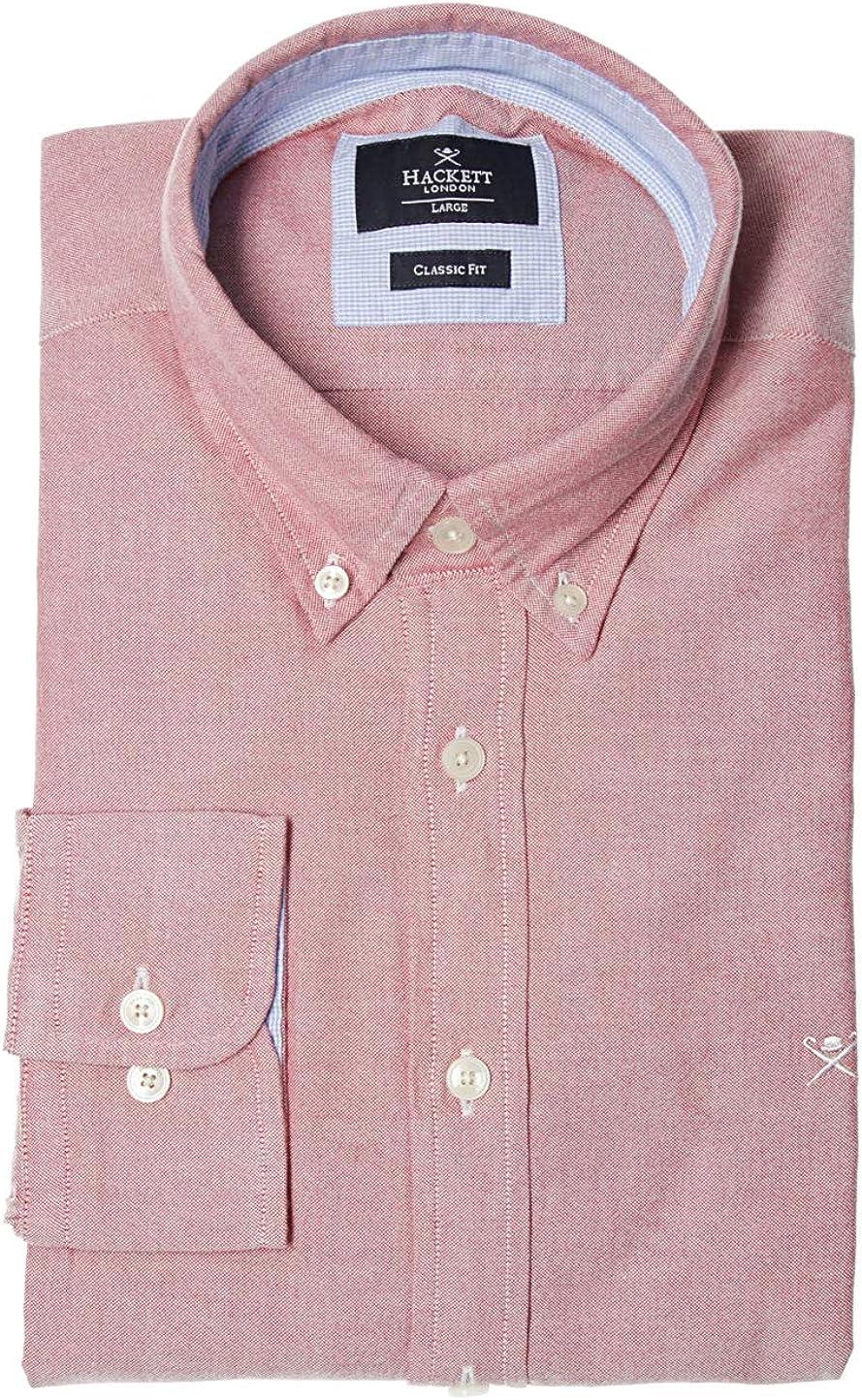 HACKETT LONDON GOLF Plain Oxford Men´s Shirt Pink, tamaño:S ...