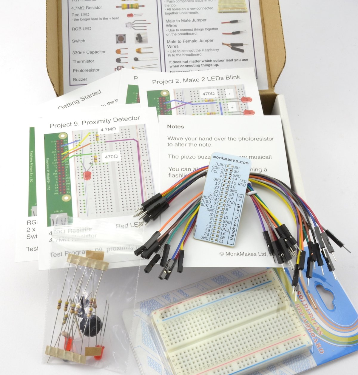 Electronic Starter Kit For Raspberry Pi Electronics Led Circuit On Breadboard Is