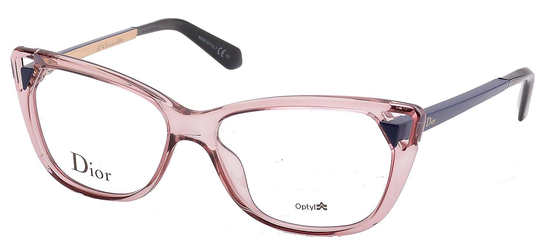 d927f5299973 Amazon.com  Christian Dior Women s Eyewear Frames CD 3286 53mm Transp Pink  Matte Blue 6ML  Clothing