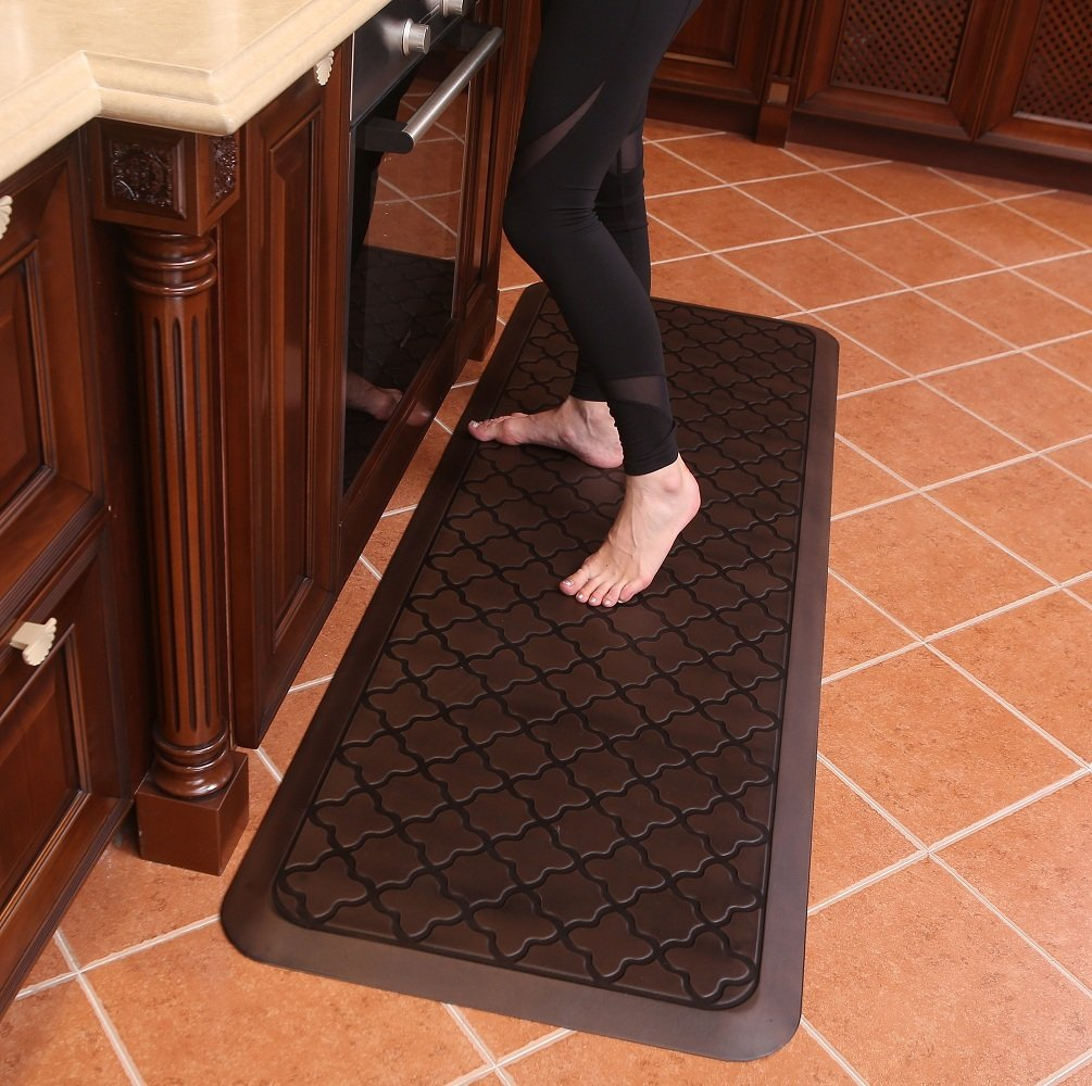 Butterfly Long Kitchen Anti Fatigue Mat Comfort Floor Mats - Perfect For kitchen and Standing Desks, Non-Toxic, Material, Waterproof, 24 x 70 inches, Dark.Antique by Butterfly
