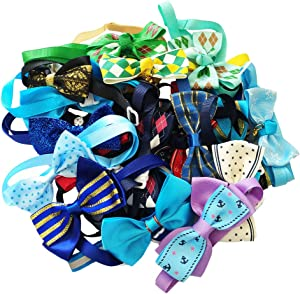 PET SHOW Small Dog Cats Bow Ties Kitten Puppies Bowties Necklace Collar for Holiday Wedding Party Grooming Accessories