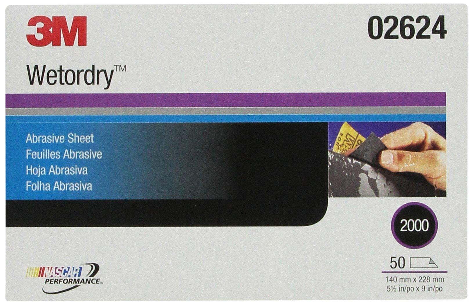 3M 02624 Imperial Wetordry 5-1/2'' x 9'' 2000C Grit Sheet