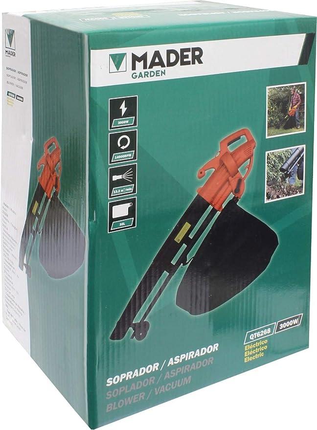 Mader Garden Tools 49244 Soplador/Aspirador 3000W 270Km/h-49244 ...