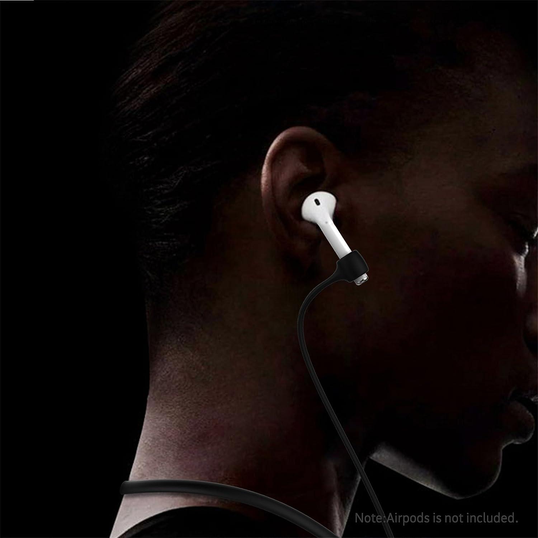 Greatfine para AirPods Bluetooth Auriculares Correa Anti Perdida Silicona Neckband Strap Cable Conector para Apple AirPod Auriculares Bluetooth Inalámbricos ...