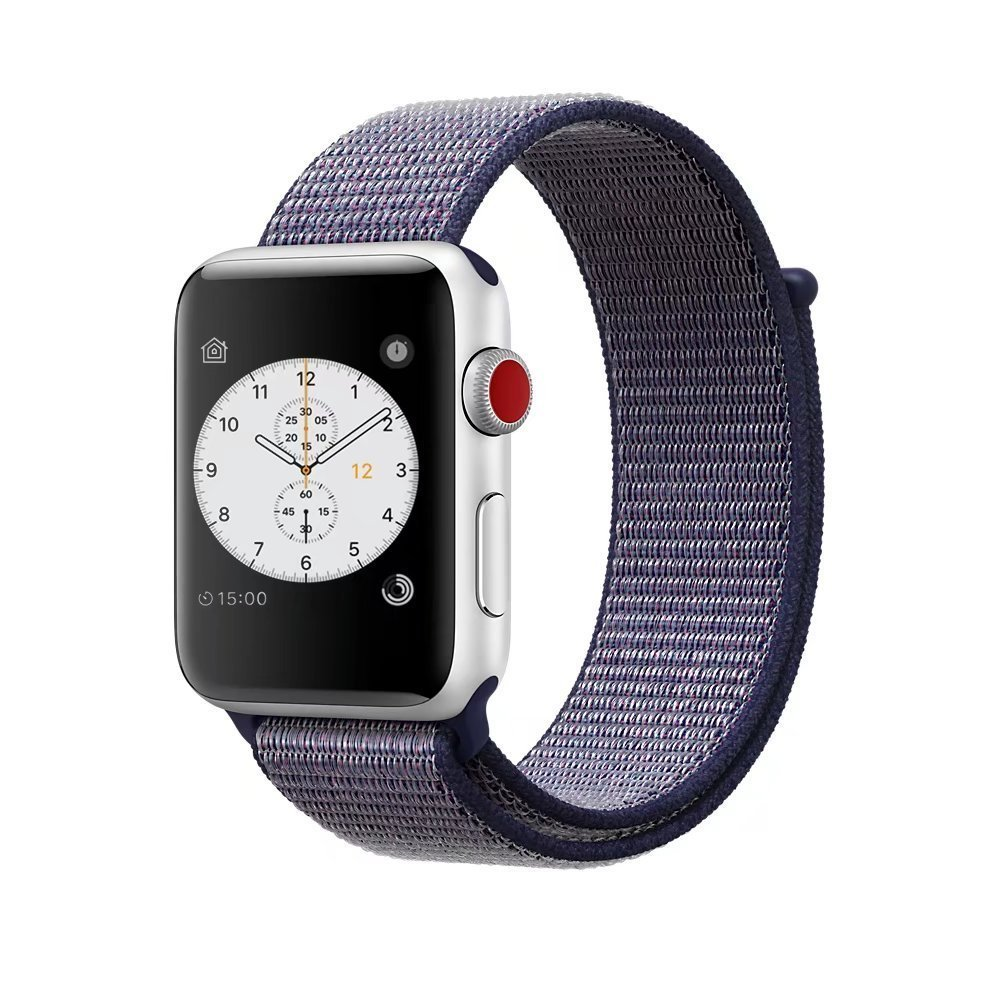 detailed look 77a0b b8a4b Smart Watch Band Dark Olive Sport Loop, Uitee Newest Woven Nylon Band for  Apple Watch Series 38mm 3/2/1, Comfortably Light with Fabric-Like Feel  Wrist ...