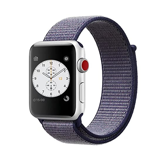 ac06092684477b Smart Watch Band Midnight Blue Sport Loop, Uitee Newest Woven Nylon Band  for Apple Watch