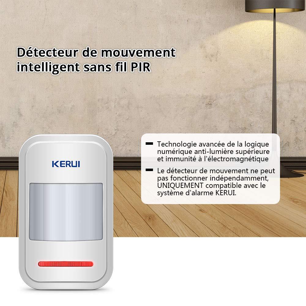 Alarma de Seguridad KERUI M5 Timbre Inal/ámbrico para Puerta Sensor de Movimiento con Sonido Alarma para Puerta//Entrada del Puerta//Casa y Tienda//Oficina