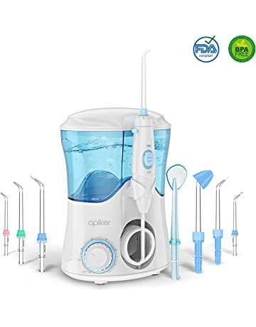 Irrigador Dental Professionale con 8 Boquillas Multifuncionales, Apiker Irrigador Bucal con Capacidad de 600ml,