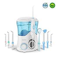 Jet Dentaire Electrique Irrigateur Oral avec 8 têtes multifonctionnelles, Apiker Hydropulseur Dentaire Professionnel d'une Capacité de 600ml avec 10 niveaux de Pression pour la famille, approuvé par la FDA
