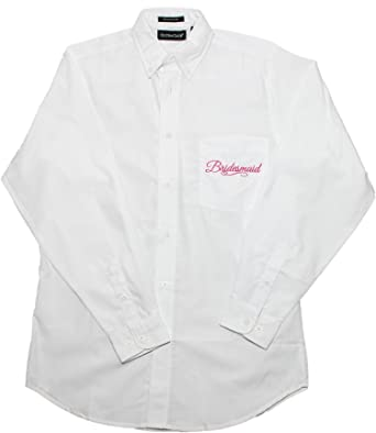 Full Bridal Party Hair & Make-up Oversized Embroidered Button Down Oxford  Shirts-Bridesmaid