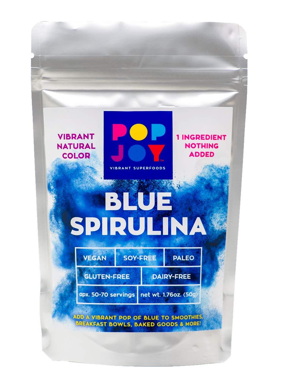 100% Blue SPIRULINA Powder by POPJOY - Vibrant SUPERFOODS