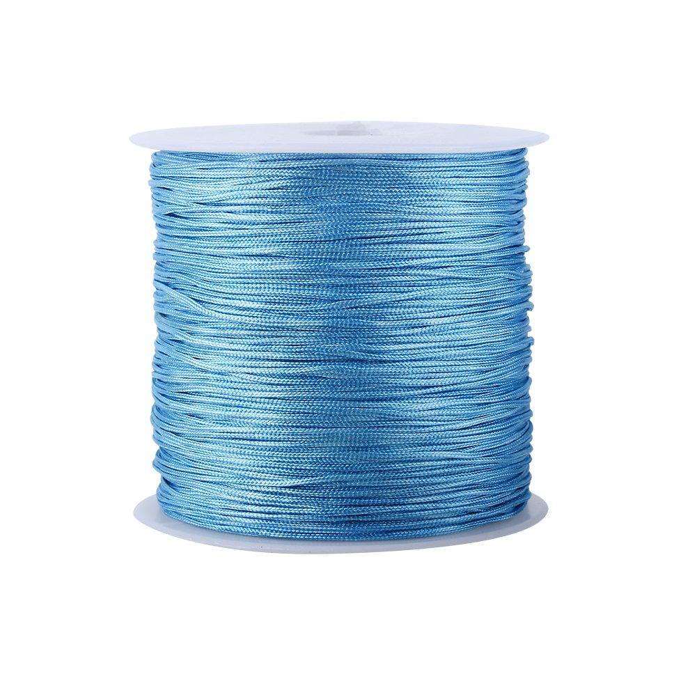 100M x 0.8mm Nylon Chinese Knot Cord Rattail Macrame Shamballa Thread String (Wine Red) Yosoo 4336807251