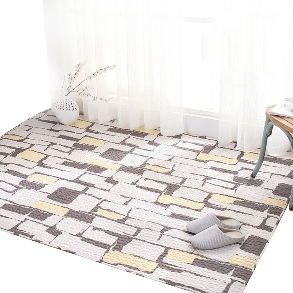 Brown Brick Pattern Cotton Household Tatami Crawling mat Machine Washable Washable