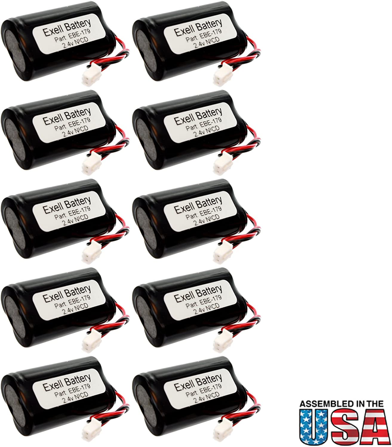 (10-Pack) Emergency/Exit Lighting Battery Fits and Replaces Exitronix 10010036 Exitronix 10010034 P/N6200RP 6200RP 6200 RP Custom-179 Custom179 BEL-179 BEL179 Interstate Batteries NIC1394 71e2I2BrwM9L