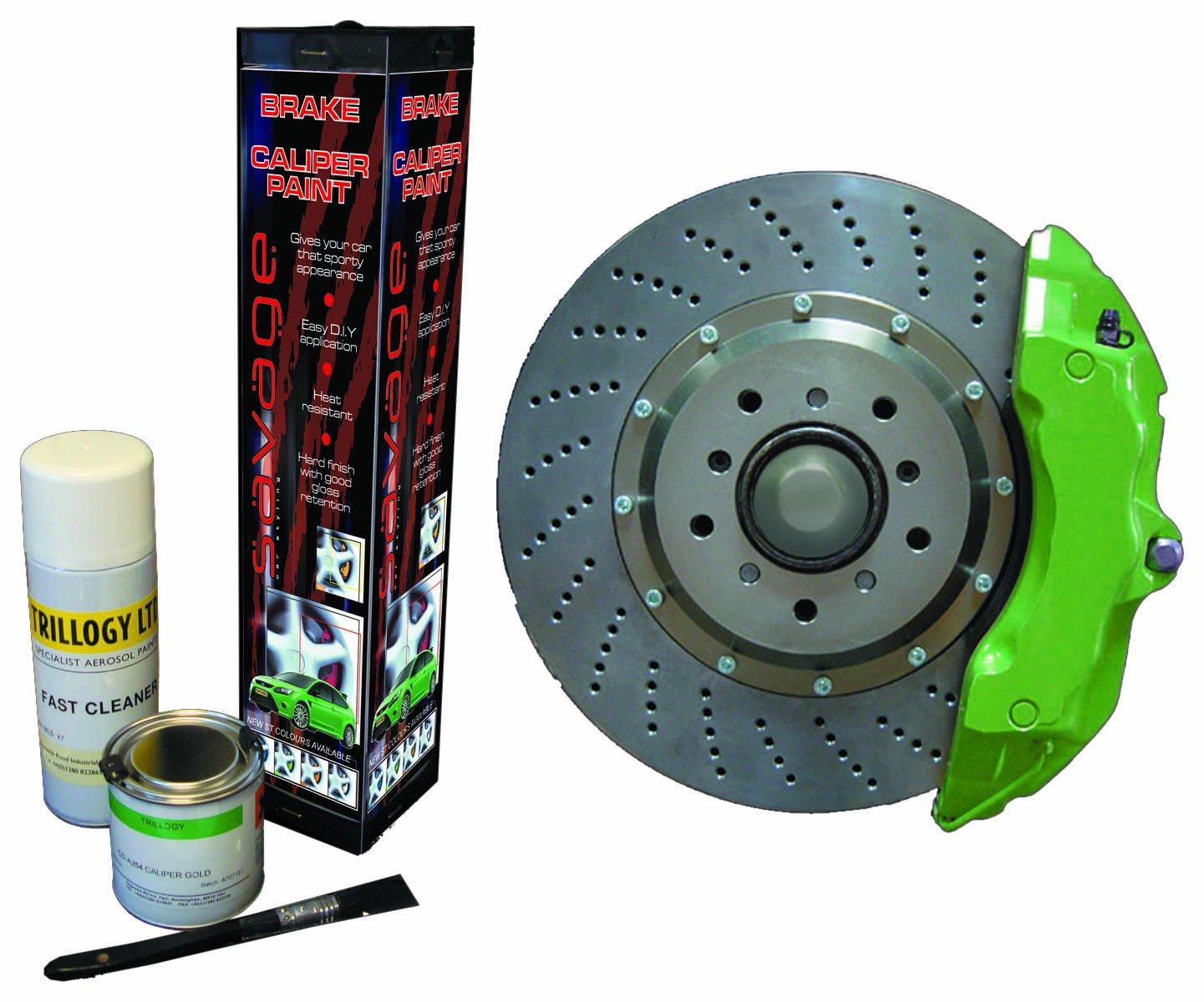Caliper paint chop whatcha think page 2 mustangforums com - Savage A256 Brake Caliper Paint 250ml Green Amazon Co Uk Car Motorbike