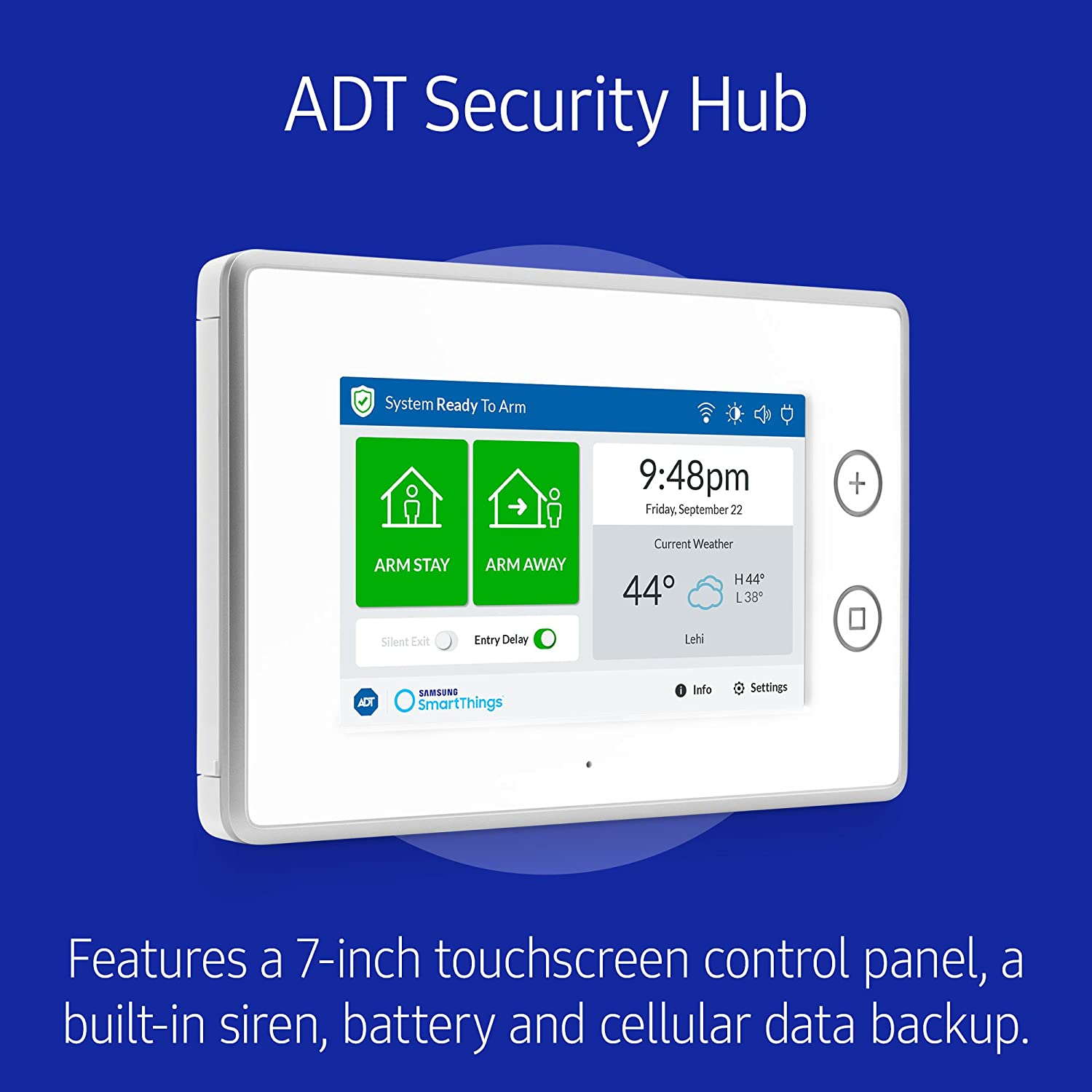 Samsung Smartthings Adt Wireless Home Security Starter Cameras Wiring Diagram Kit With Diy Smart Alarm System Hub Door And Window Sensors Motion Detector Alexa