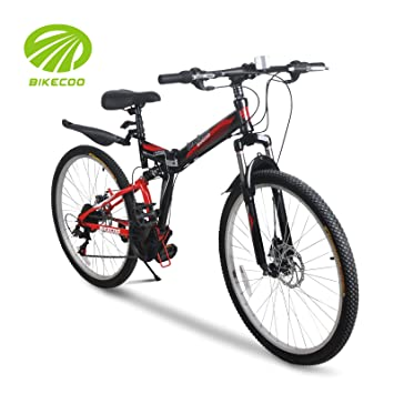 """bikecoo 26 """"21 velocidades Shimano bicicleta plegable bicicleta de montaña plegable ..."""
