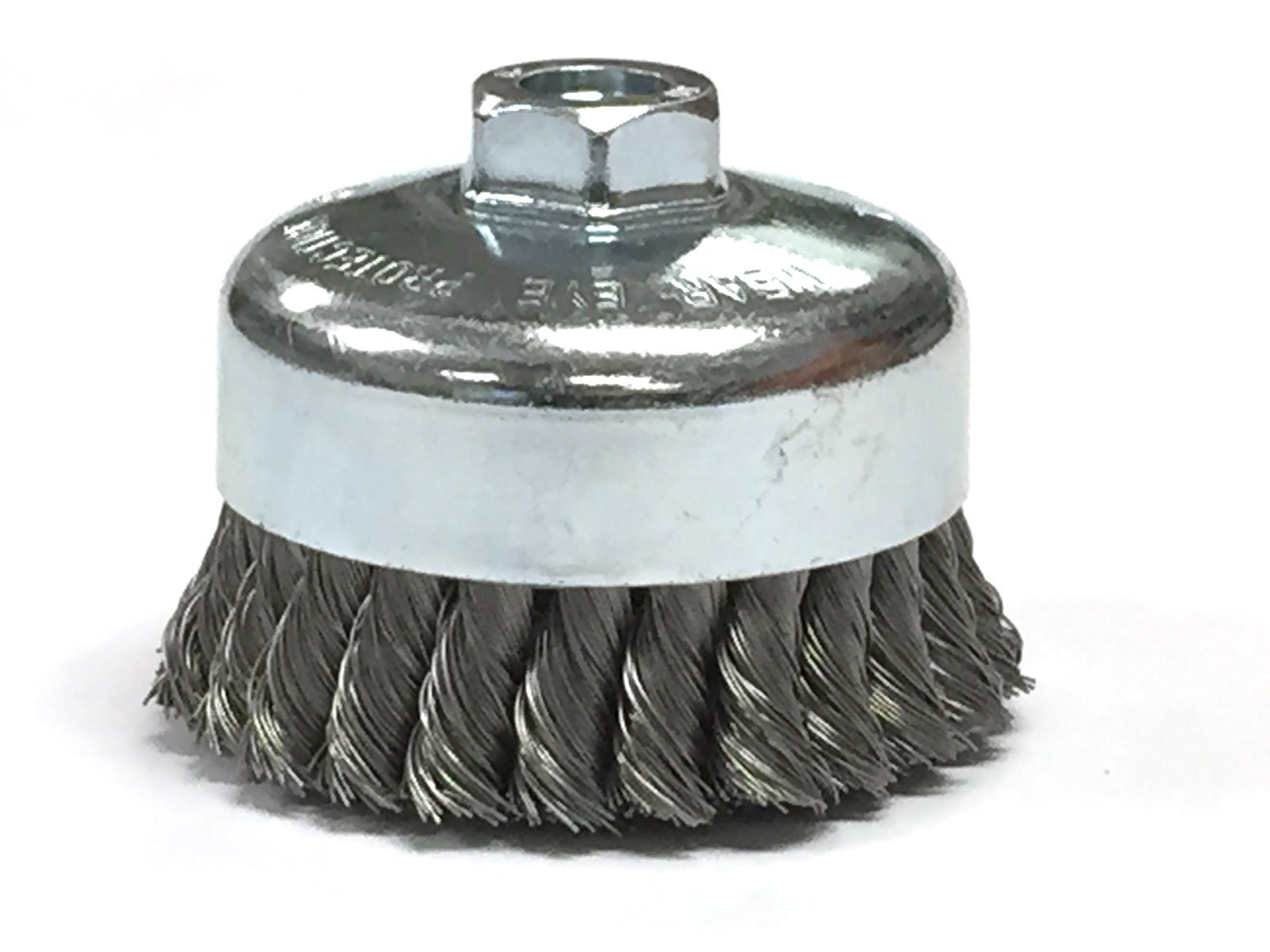 4'' Knotted Cup Brush with 5/8-11 Inch Arbor - Carbon Steel