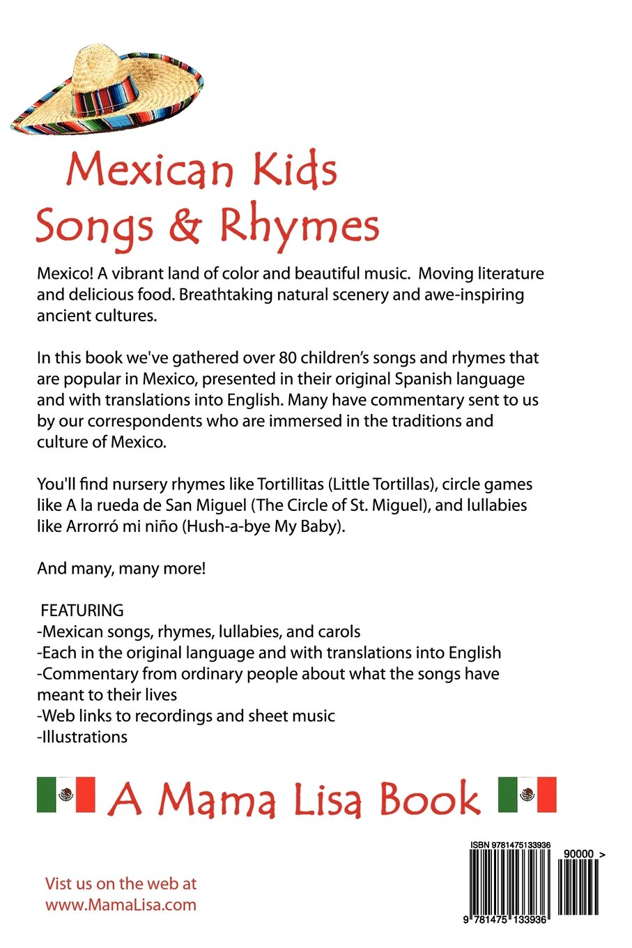 Mexican Kids Songs and Rhymes: A Mama Lisa Book: Ms. Lisa Yannucci ...