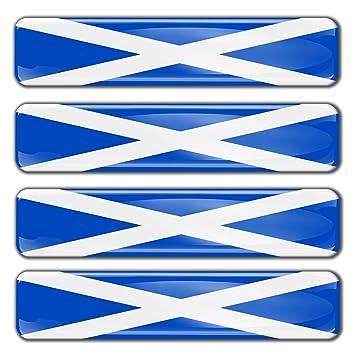 Sticker Scotland Emblem 3D Resin Domed Gel Scotland Flag Vinyl Decal Car Laptop