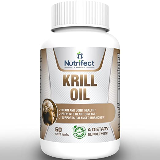 100% Natural Organic Krill Oil 1000mg Supplement - MEGA CUSTOM FORMULA MADE IN USA