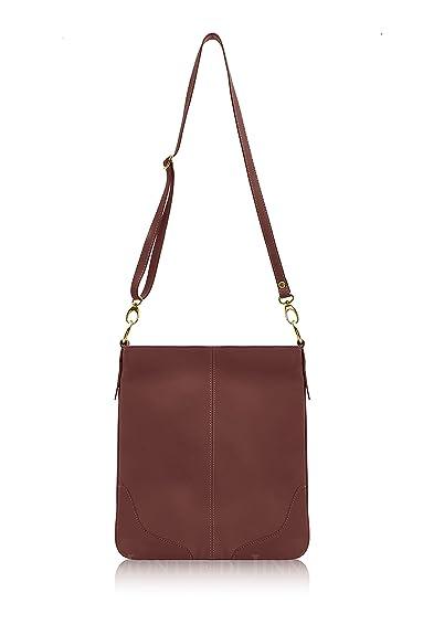 996e07c0a97d Montte Di Jinne Italian Leather Women s Folded Over Messenger Cross Body Shoulder  Bag for Women -