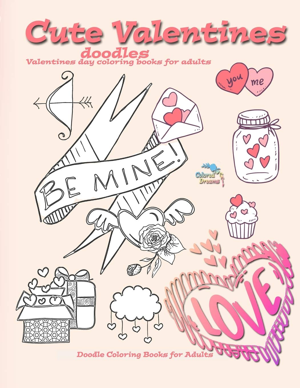 - Cute Valentines Doodles Valentines Day Coloring Books For Adults