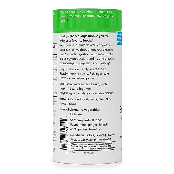Sistema Avanzado de enzimas, Rapid Release Fórmula, 90 Caps Veggie ...