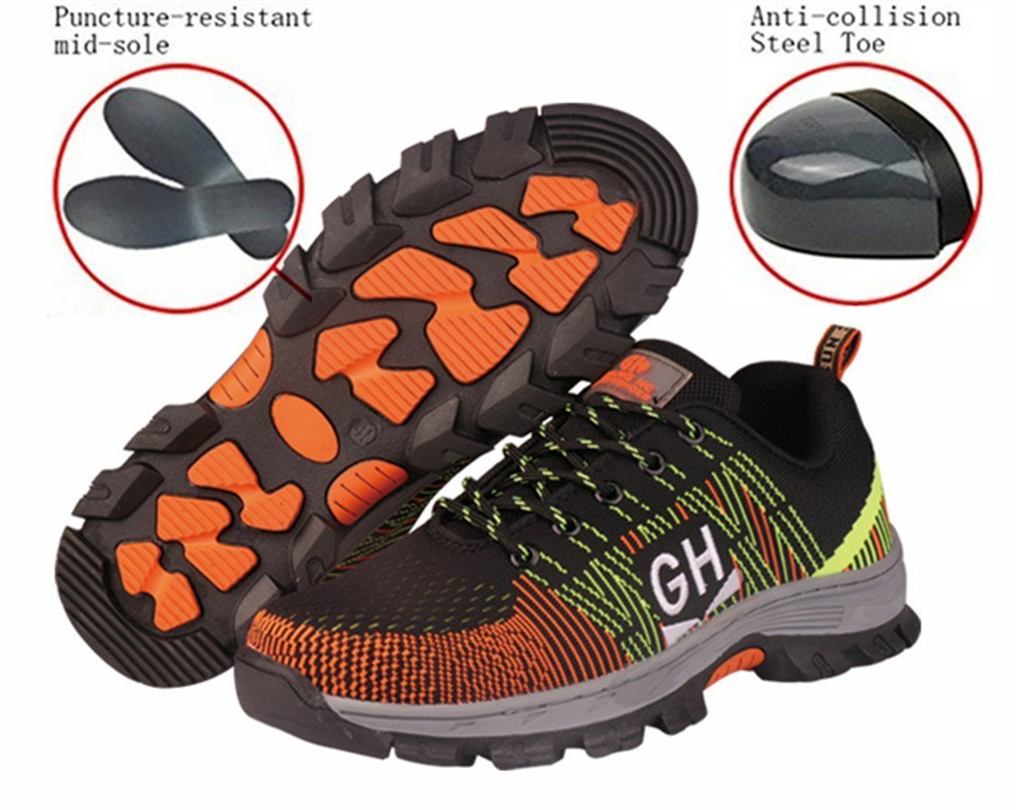 GUDUN Women Breathable Steel Toe Shoes for Women Steel Toe Cap Shoes (9-15 Days to delivery) (US Women 6.5, GDW05)