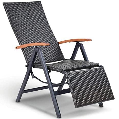 Amazon.com: Silla reclinable de patio plegable, reclinable ...
