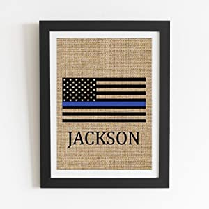 Boston Creative Company American Flag Personalized Gifts Wall Hanging Retirement Gift Police Officer Gifts Wedding Gifts Printable Gift Bridesmaid Gifts Guest Room Decor