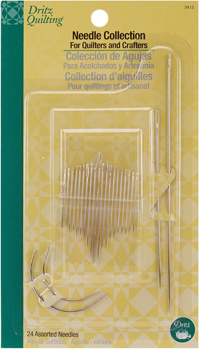 Assorted Sizes 30-Count Dritz 3303 Quilting Needle Compact