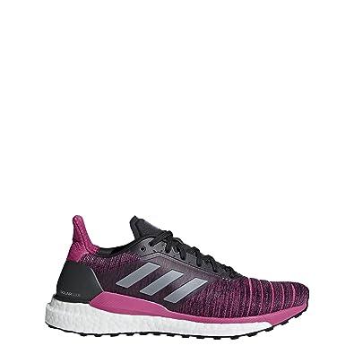 uk availability 4f6d7 dedc3 Amazon.com  adidas Womens Solar Glide W Running Shoe CarbonGrey  ThreeReal Magenta 6.5 M US  Running
