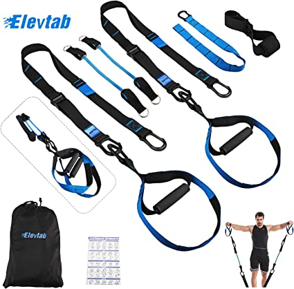 Suspension Trainer Home Gym Suspension Resistance Strength Strap Workout Gifts