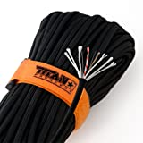 """TITAN SurvivorCord   100 Feet   Patented Military Type III 550 Paracord / Parachute Cord (3/16"""" Diameter) with Integrated Fishing Line, Fire-Starter, and Snare Wire. FREE Paracord Projects eBook."""