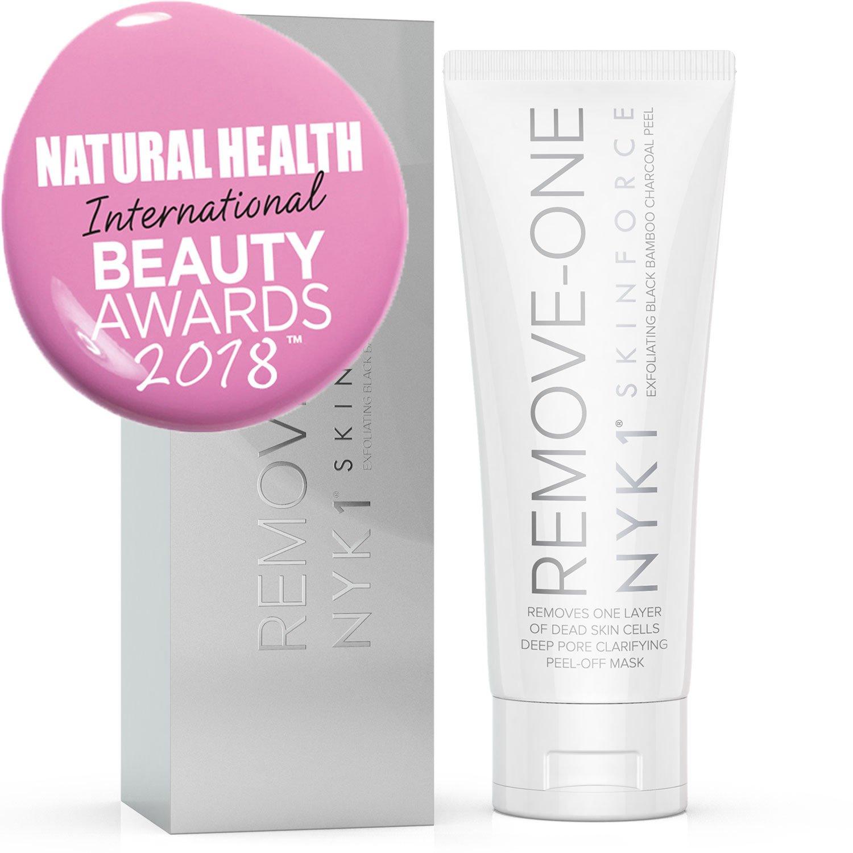 Máscara de carbón negro para eliminar el acné, la mejor limpieza profunda del poro, las máscaras de gel para pasta de la piel son más eficaces que el ...
