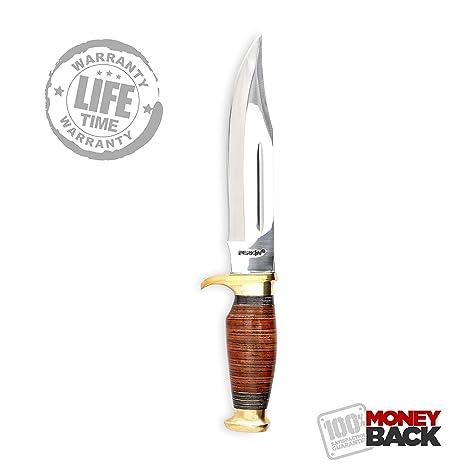 Perkin Knives Cuchillo de Caza Hecho a Mano con Vaina Fija ...