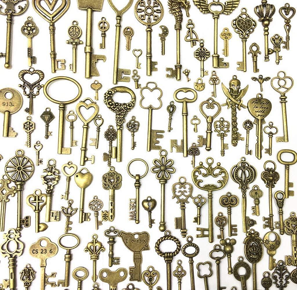 10 Key Charm Antique Bronze Tone 110268-1838